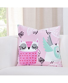 "Night Owl 16"" Designer Throw Pillow"