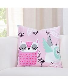 """Crayola Night Owl 16"""" Designer Throw Pillow"""