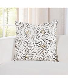 "Indoor-Outdoor Magnolia Floral 20"" Designer Throw Pillow"