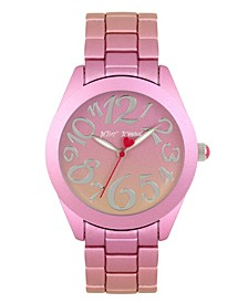Pink & Orange Stainless Steel Case Watch