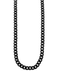 Sutton Stainless Steel Black Curb Link Chain Necklace