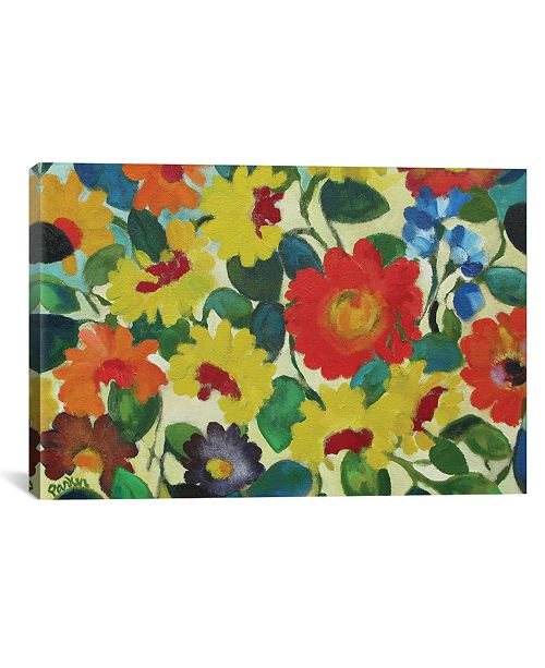 """iCanvas """"Zinnia Meadow"""" By Kim Parker Gallery-Wrapped Canvas Print - 40"""" x 60"""" x 1.5"""""""