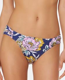 Jessica Simpson Printed Side-Shirred Hipster Bikini Bottoms