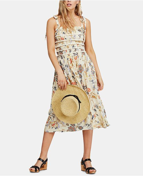 Free People Isla Floral-Print Midi Dress