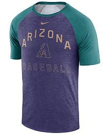 Nike Men's Arizona Diamondbacks Dry Slub Short Sleeve Raglan T-Shirt