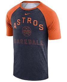 Nike Men's Houston Astros Dry Slub Short Sleeve Raglan T-Shirt