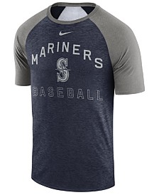 Nike Men's Seattle Mariners Dry Slub Short Sleeve Raglan T-Shirt