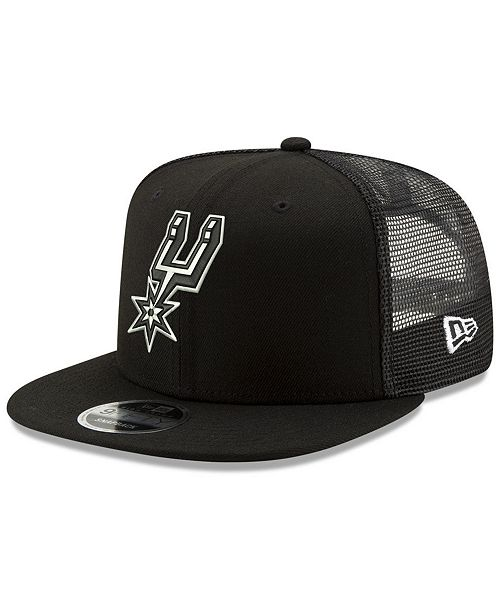 109744c8d68d1 New Era San Antonio Spurs Dub Fresh Trucker 9FIFTY Snapback Cap ...