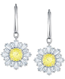Silver-Tone Crystal Sunshine Drop Earrings