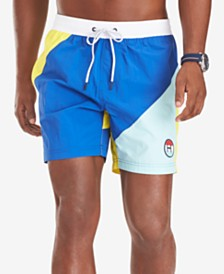 "Tommy Hilfiger Men's Clark Quick-Dry Colorblocked 6-1/2"" Swim Trunks"