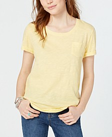 Cuffed-Sleeve Cotton T-Shirt, Created for Macy's