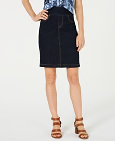 Style & Co Ella Pull-On Denim Skirt, Created for Macy's