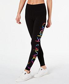 Calvin Klein Performance Printed-Logo High-Waist Leggings