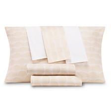 CLOSEOUT! AQ Textiles Modernist Printed Shell 6-Pc Sheet Sets, 300 Thread Count Cotton Blend