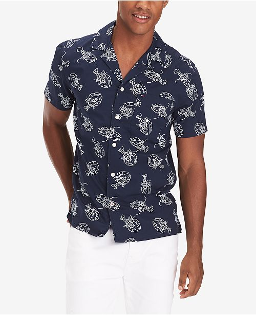 ad7d12dc4d Men's Preston Custom-Fit Lobster-Print Camp Shirt