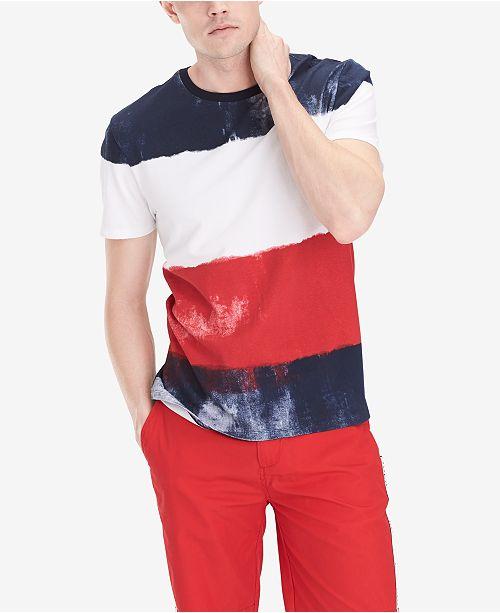 114c4327 Tommy Hilfiger Men's Shefield Colorblocked Stripe T-Shirt; Tommy Hilfiger  Men's Shefield Colorblocked Stripe T- ...