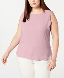 Anne Klein Plus Size Crewneck Top