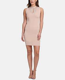 Sleeveless Embellished Bodycon Dress, Created for Macy's