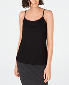Eileen Fisher Scoop-Neckline Layering Camisole, Regular & Petite