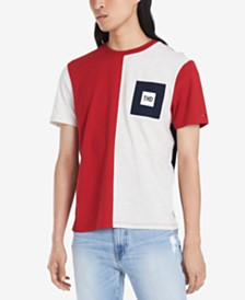 Tommy Hilfiger Denim Men's Julius Colorblocked Logo Graphic T-Shirt