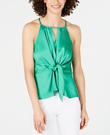 I.N.C. Tie-Front Keyhole Top, Created for Macy's