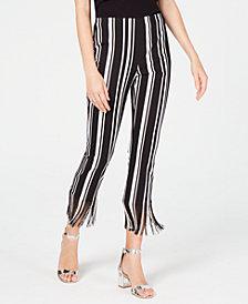 I.N.C. Fringe-Trim Cropped Skinny Pants, Created for Macy's