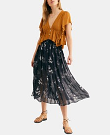 Free People Lydia Printed Skirt