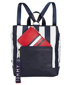 Tommy Hilfiger Virden Striped Nylon Backpack