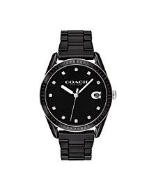 COACH Women's Preston Black Ceramic Bracelet Watch 36mm