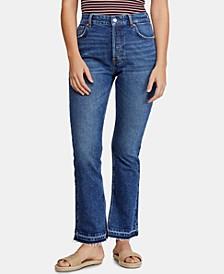 Emmy Slit-Hem Bootcut Jeans