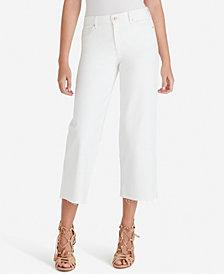 Jessica Simpson Juniors' Adored High-Rise Wide-Leg Crop Jeans