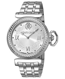 By Franck Muller Women's Swiss Quartz Silver Stainless Steel Bracelet Watch, 38mm