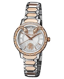 By Franck Muller Women's Diamond Swiss Quartz Two-Tone Rose Gold Stainless Steel Bracelet Watch, 34mm