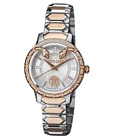 By Franck Muller Women's Diamond Swiss Quartz Two-Tone Rose Gold Stainless Steel Bracelet Watch, 34mm