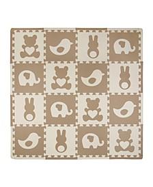 Tadpoles 16 Piece Foam Play Mat Set, Teddy and Friends