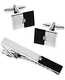 Sutton Stainless Steel Cufflinks and Tie Clip Set
