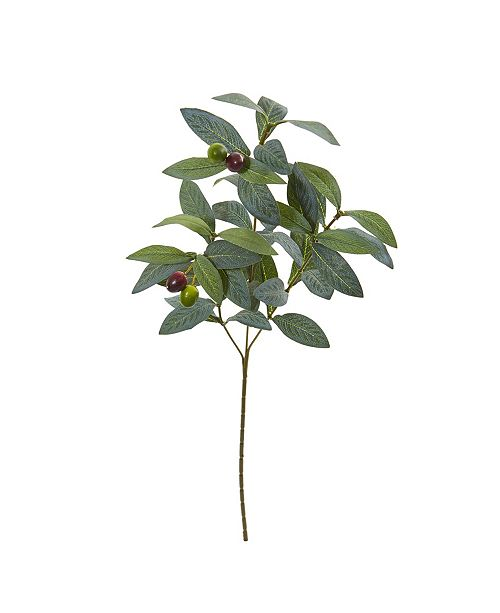 """Nearly Natural 23"""" Olive Spray Artificial Plant (Set of 24)"""
