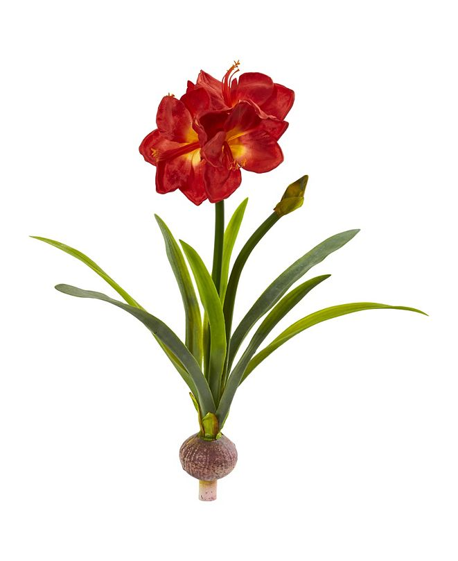 "Nearly Natural 31"" Amaryllis Artificial Flower (Set of 3)"