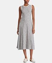 6e0e9e89d343 Lauren Ralph Lauren Petite A-Line Striped Cotton Dress