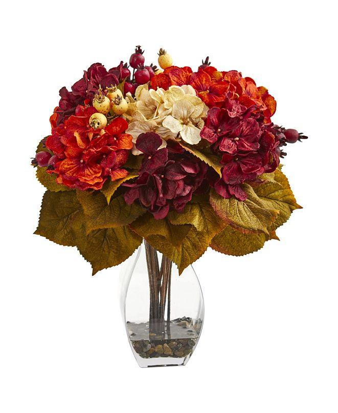 Nearly Natural Autumn Hydrangea Berry Artificial Arrangement