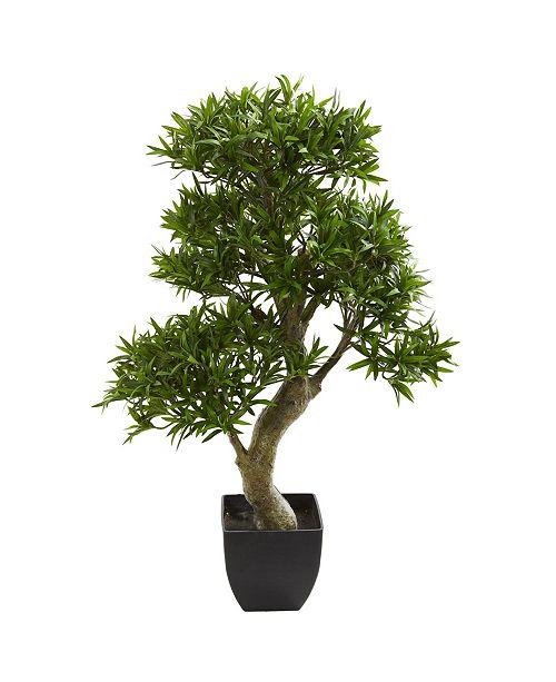 "Nearly Natural 37"" Podocarpus Artificial Tree"