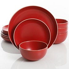 Laurie Gates Rockaway Red 12-piece Dinnerware Set