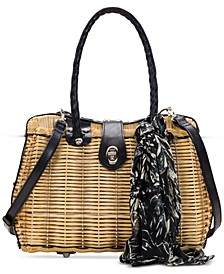 Lucena Woven Satchel With Scarf