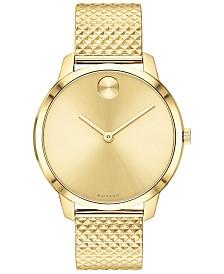 Movado Women's Swiss BOLD Gold Ion-Plated Steel Bracelet Watch 35mm