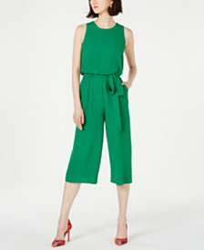 Vince Camuto Petite Sleeveless Tie-Front Jumpsuit