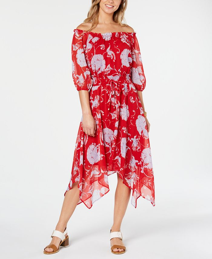 Tommy Hilfiger - Off-The-Shoulder Peasant Dress, Created for Macy's