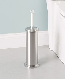 Home Basics Stainless Steel Toilet Brush Holder with Diamond Top