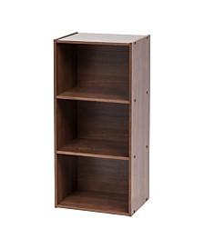 3-Tier Basic Wood Bookcase Storage Shelf