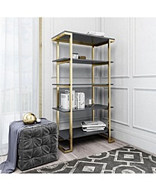 by Cosmopolitan  Camila 5 Shelf Bookcase