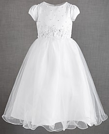 US Angels Short Sleeve with Embellished Waistband Dress